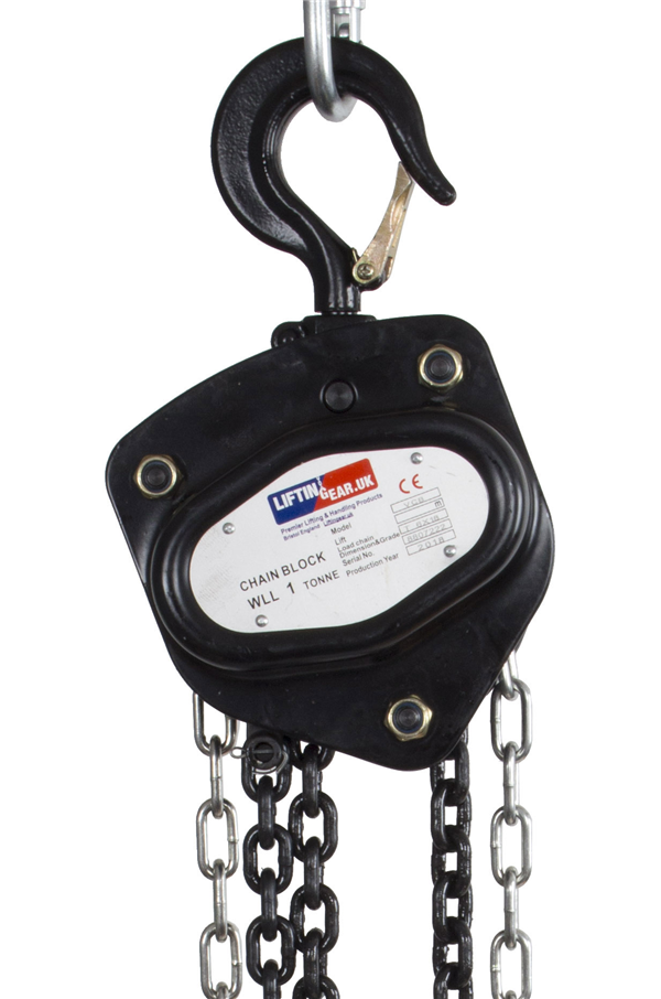 Chain Block Hoist 1 Tonne 3m 30m Cb1 Safetyliftingear
