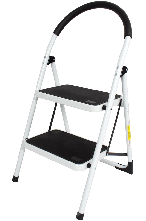 Stupendous Steel Foldable 2 Step Ladder Non Slip Tread Onthecornerstone Fun Painted Chair Ideas Images Onthecornerstoneorg