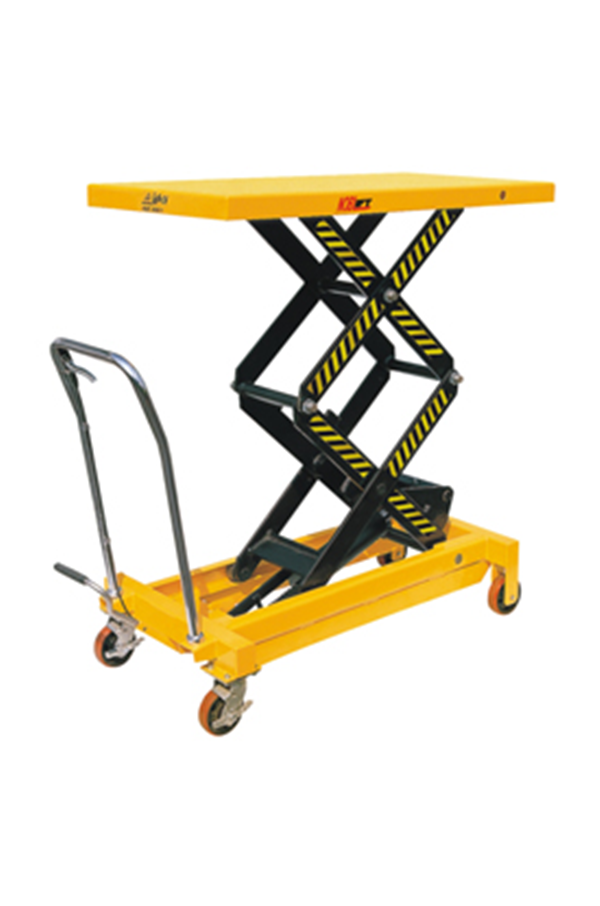 Small Hydraulic Lift Platforms : Double vertical scissor lift hydraulic platform table