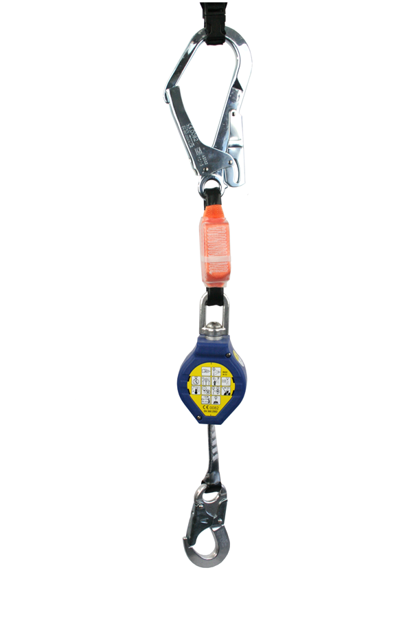 Retractable Fall Arrester with Scaffold Hook (2.4mtrs, Max Load 140