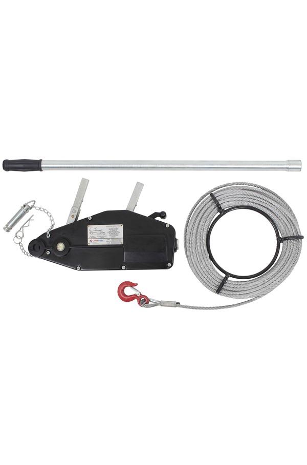 Wire Rope Winch 1600kg c/w Winch Rope, Pulling 2400kg. | WRW1600 ...