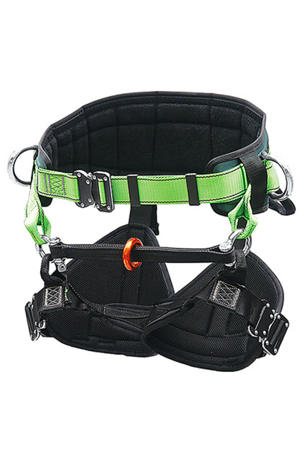 tree climbing harness with quick release buckles tf th