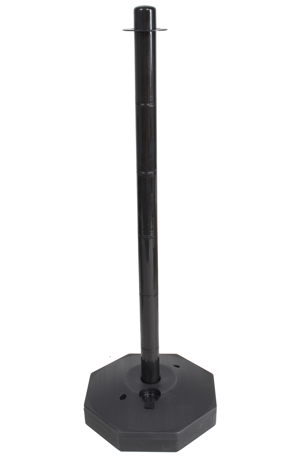 Black Plastic Safety Post With Base Pc Post B