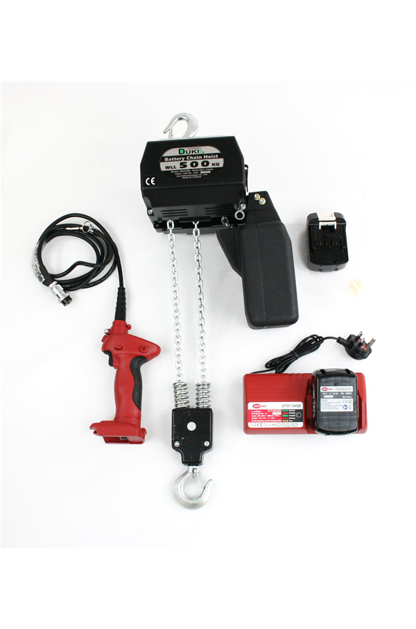 Battery Powered Electric Chain Hoist 250 Kg Lift 3mtr To