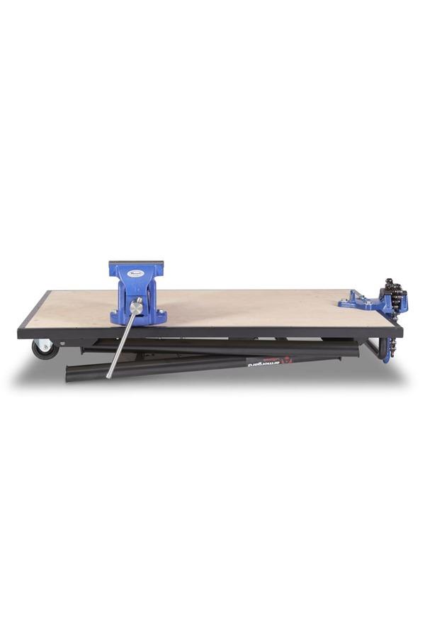 Armorgard TuffBench Folding Workbench c/w Wheels, Handle, Chain Vice and  Engineers Vice BH1080-VWK