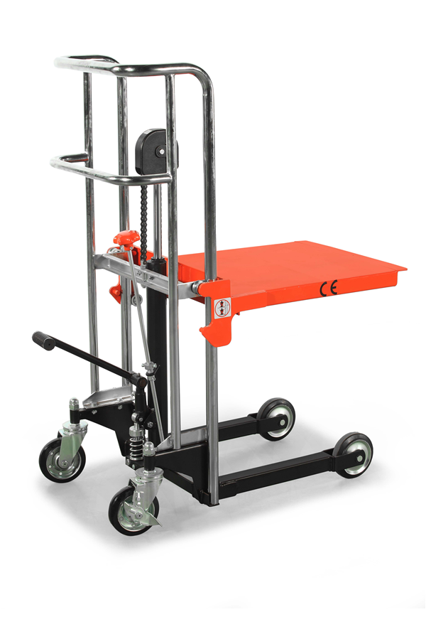 400kg Manual Platform Stacker 650mm Lift Height Stack
