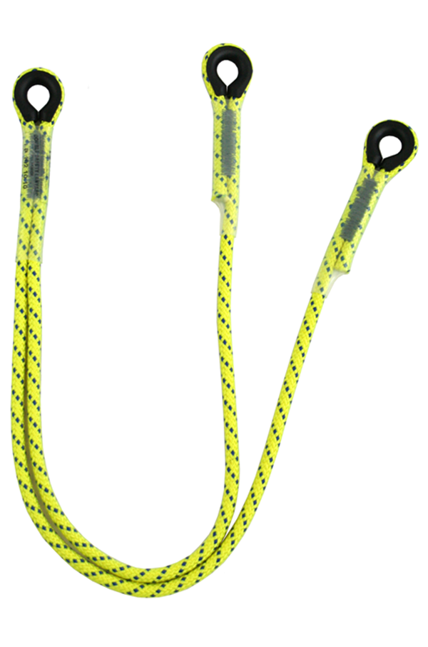 Y Restraint Lanyard With A Thimble Eye At Each End