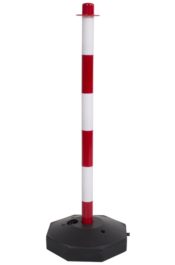 Red And White Plastic Safety Post With Base Pc Post Rw