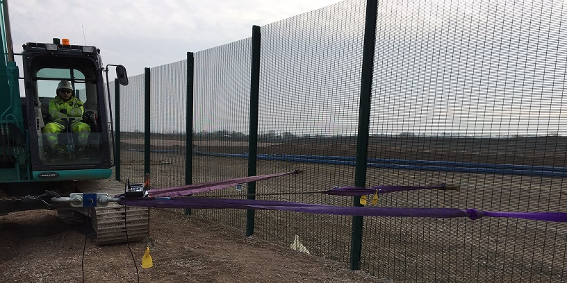 Hinkley Point Fence Test