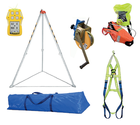 Confined space rescue kit