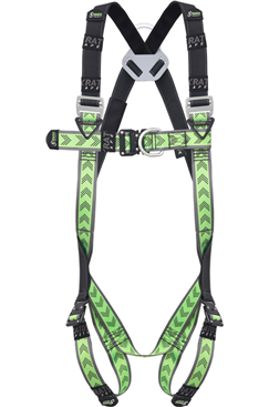 Elasticated scaffold harness