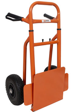 Compact sack truck folded for easy storage