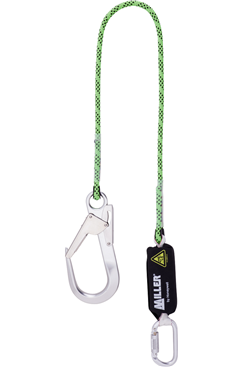 Miller lanyard with scaffold hook