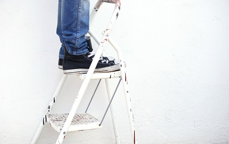 working at height, ladder safety equipment