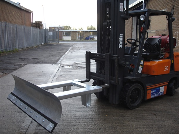 Fork Truck with Plough Attachment