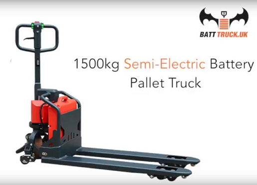 Semi-Electric Battery Powered Pallet Truck