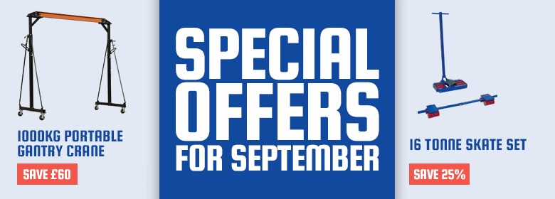 Special offers for September