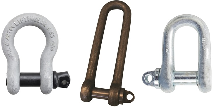 Different types of shackles